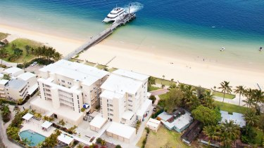 The water supply at Tangalooma Resort has become contaminated with bacteria, according to Queensland Health.
