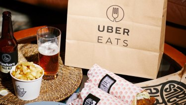 Uber Eats delivers an order from Biggie Smalls to another hungry stay at home diner.