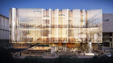 A design concept image for the new South Bank theatre.