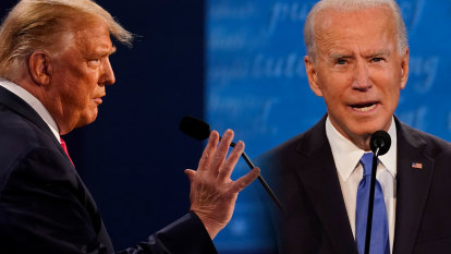 'He's a confused guy': Well-drilled Biden takes on quieter Trump