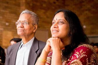Anu Krishnan and her Appa.