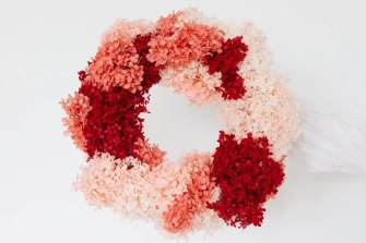 Cocktails and Candy Canes Wreath.