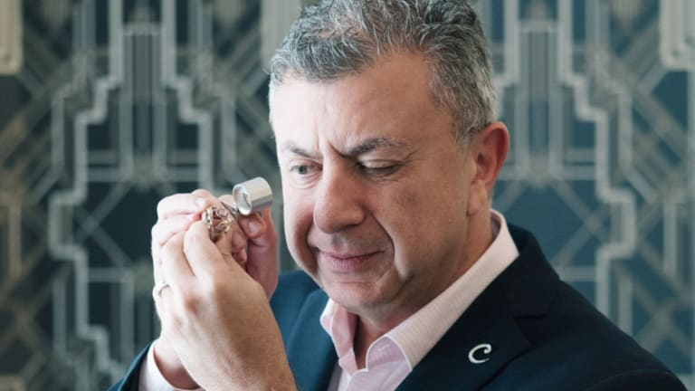 John Calleija, jewellery designer, judging the 2018 Diamond Guild Australia Jewellery Awards on Tuesday.