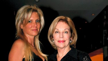 Lizzie Buttrose and her aunt Ita.