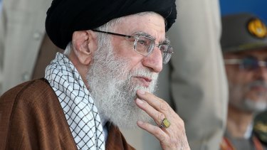 The Iranian supreme leader Ayatollah Ali Khamenei.