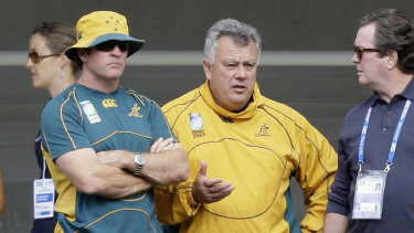 Michael O'Connor (left) will add a different voice to a three-man Wallabies selection panel this year.