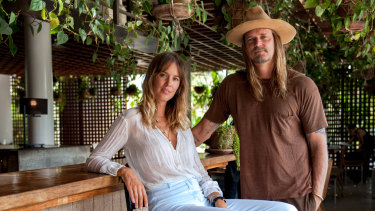 """We flipped it fast"": Cisco and George Gorrow, who operate The Slow restaurant, bar and gallery at Canggu."