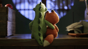 Love for two knitted toys: Lost & Found.