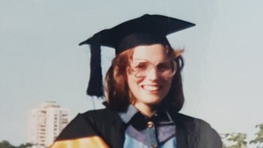 Dr Kate Tree at her medical graduation in 1987.