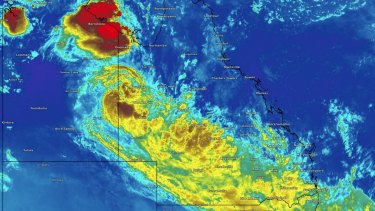 Ex-Tropical Cyclone Trevor stretches across Queensland and is expected to bring much-needed rain and heat reprieve.