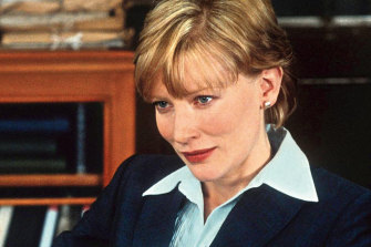 Cate Blanchett as Veronica Guerin in the film of the same name.