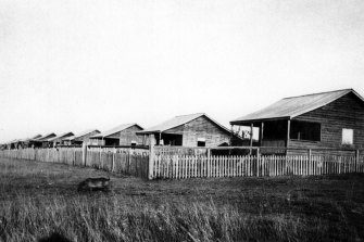 Cottages at the Barambah Aboriginal Settlement in Queensland in 1919.