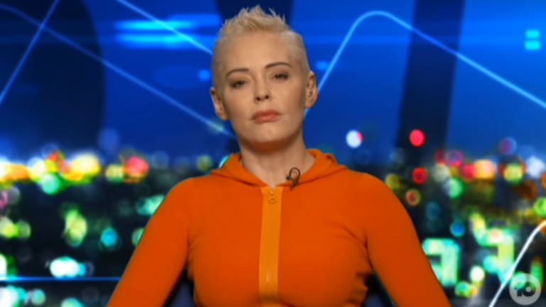 Rose McGowan on The Project.