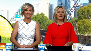 """Deb Knight and Georgie Gardner on the """"new-look Today""""."""