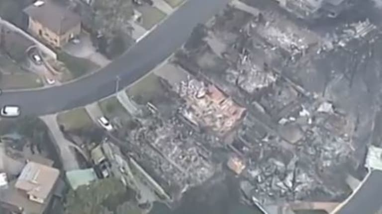 At least 69 buildings have been destroyed in a bushfire in Tathra.