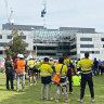 Labour hire company 'stood down' workers who witnessed Curtin University ceiling tragedy