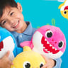 Baby Shark has inspired a range of plush toys.