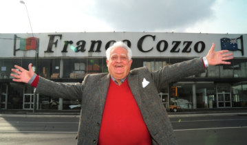 Franco Cozzo pictured in June at his Footscray furniture store, which he sold for $7 million.