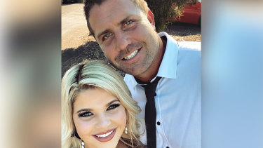 Timothy Atkins and his partner. Mr Atkins was injured during his arrest,  prompting an IBAC investigation.