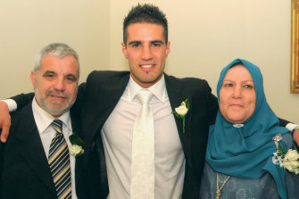 With parents Malek and Yamama, who wanted Bachar to focus on his education, not sport.