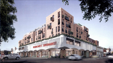 A rendering of the plans to redevelop Piedimonte's Supermarket, off St Georges Road, dated 2019.
