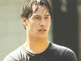 Keanu Reeves in Point Break.