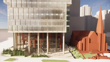 The proposed designs are supported by the Uniting Church, documents lodged with the Brisbane planning court say.