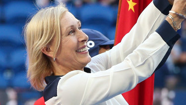 Courting controversy: Martina Navratilova has not backed down from her contentious stance.