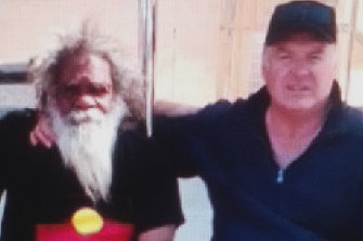 Great Australian Party leader Rod Culleton with a tribal elder in the Northern Territory last year.