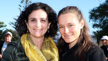 Bobbi Mahlab, Co-founder, Mentor Walks (left), pictured with program co-founder Adina Jacobs.
