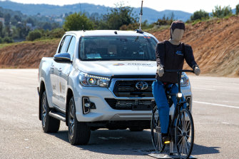 Experts say autonomous emergency braking systems reduce the chance that a pedestrian or cyclist will be killed or injured.  ANCAP has been conducting tests.