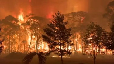Footage taken from the NSW RFS  of a bushfire at Mt Tomah.