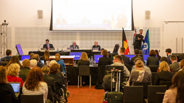 The hearing of the Disability Royal Commission in Melbourne.