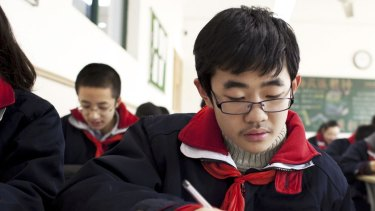 Students in China.