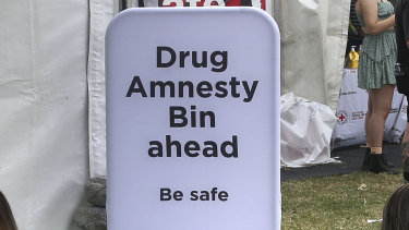 Drug amnesty bins encouraged people to surrender their drugs.