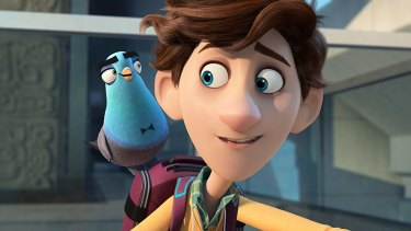 Tom Holland voices the nerdy Walter, while Will Smith doubles as Lance the pigeon in Spies in Disguise.