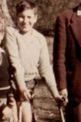 Peter Freckleton wearing calipers as a child.