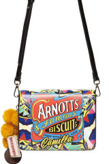 The bag with the Iced VoVo keyring that was a central piece in the deal between Camilla Franks and Arnott's.