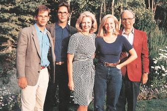 The Murdoch family: (From left) Lachlan Murdoch, James Murdoch, Anna Murdoch, Elisabeth Murdoch and Rupert Murdoch.