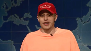 SNL's Pete Davidson has slammed Kanye West over his pro-Trump rant on last week's show.