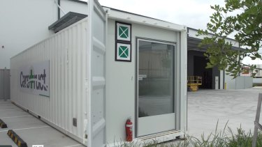 Ten of these portable isolation units are being offered to Queensland Health by Brisbane's Canstruct International.