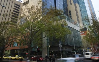 Telstra's headquarters at 242 Exhibition Street in Melbourne