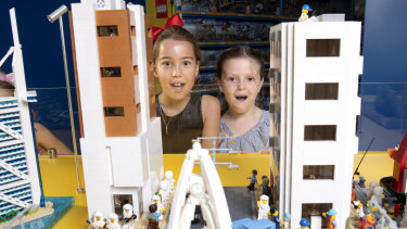 Brickman Cities powered by Lego City exhibit at Moore Park Entertainment Quarter