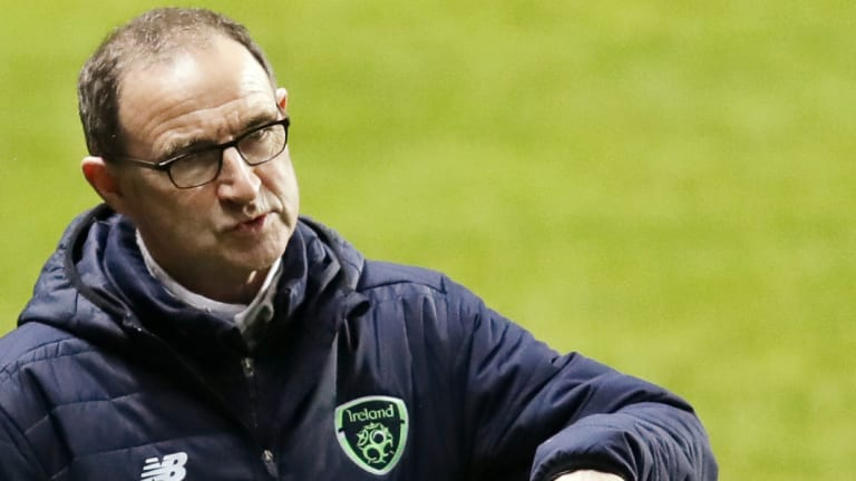 Second best: Martin O'Neill's Ireland were well beaten.