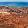 Aerial View of Chevrons Gorgon LNG Plant which is under construction on Barrow Island in Western Australia Supplied pics 18th of august 2013