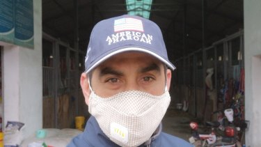 Melbourne horse trainer Rui Severino is stuck in Wuhan amid the coronavirus outbreak.