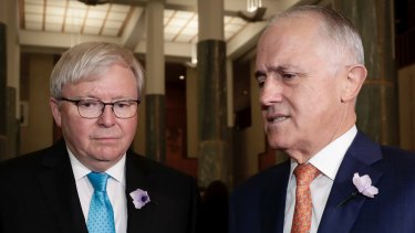 Former prime ministers Rudd and Turnbull have a common cause in their dislike of News Corp.
