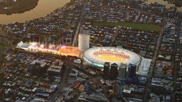 Premier Annastacia Palaszczuk says an overhauled Gabba will be the centrepiece of the 2032 Olympic and Paralympic Games bid.