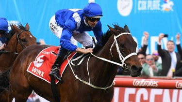 Top of the world: Winx shared the honours with Cracksman as the world's best horses last year.