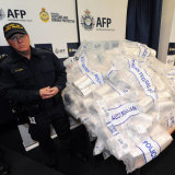 Australian Federal Police guard 306 kilos of crystal methamphetamine ('ice') and 252 kilos of heroin. We are awash in the stuff.
